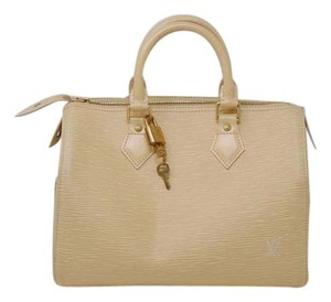 Louis Vuitton Epi Leather Speedy 25 Handbag Satchel in Cream