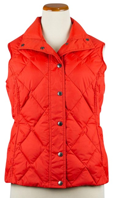 Lands' End Down Coral Quilted Vest