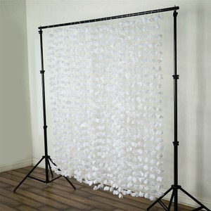 Flower Garland Backdrop White 6ftx6ft Wedding Reception