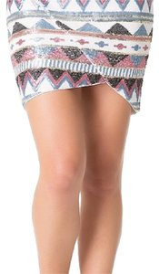 bebe Mini Skirt Multi color