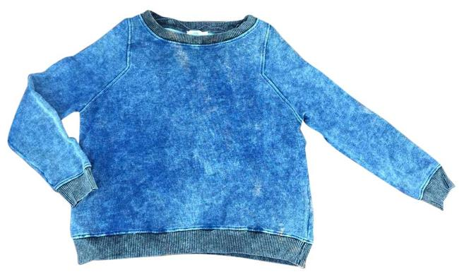 Preload https://img-static.tradesy.com/item/20620203/zara-black-blue-cotton-denim-sweater-sweatshirthoodie-size-8-m-0-1-650-650.jpg