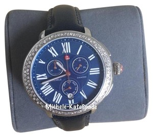 Michele $1900 NWT SEREIN CHRONO DIAL BLUE MOP DIAMOND MWW21A000048