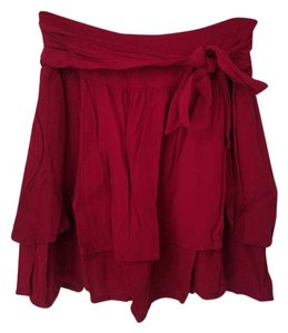 Other Mini Skirt Deep Red