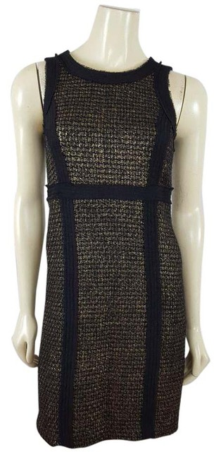 Preload https://img-static.tradesy.com/item/20620229/michael-kors-black-and-gold-sleeveless-sheath-mid-length-workoffice-dress-size-2-xs-0-2-650-650.jpg