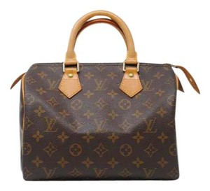 Louis Vuitton Speedy Monogram Handbag Speedy 25 Satchel in Brown
