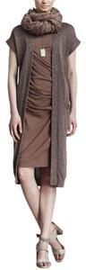 Brunello Cucinelli Runway Paris Duster Sweater Coat Metallic Cape