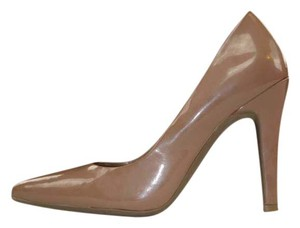 Mossimo Supply Co. Patent Nude Party Rocker Tan Pumps