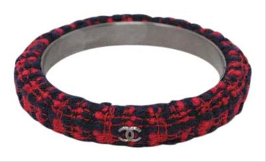 Preload https://item1.tradesy.com/images/chanel-plaid-tweed-cuff-bracelet-20620360-0-1.jpg?width=440&height=440