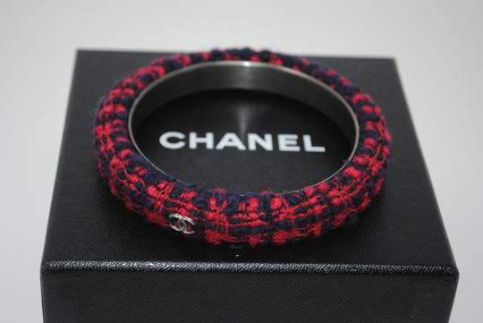 Chanel Chanel Plaid Tweed Cuff