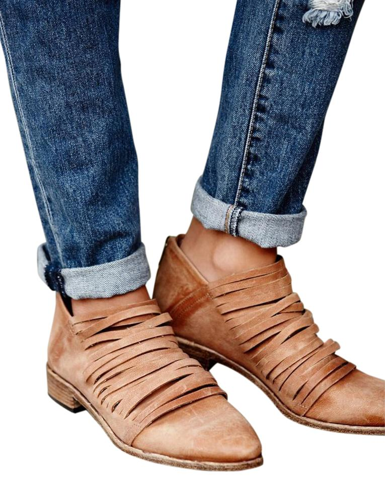 Free People Tan Lost Ankle Valley Ankle Lost Boots/Booties 69d2cd