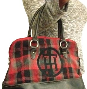 Tommy Hilfiger Satchel in Trip colored (black, gray & red)