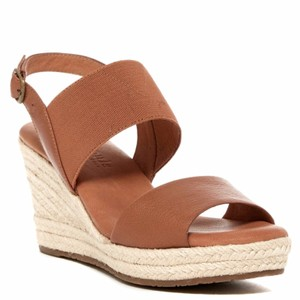 Kenneth Cole Gentle Souls Kara Espadrille Platform Woven Sandals
