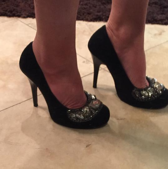 Gianni Bini Formal Casual Studded Crystals black Pumps