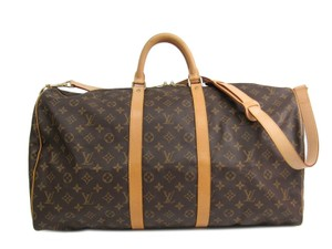 Louis Vuitton Lv Keepall 55 Bandouliere Monogram Duffel Travel Bag