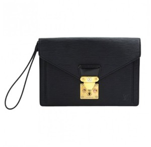 Louis Vuitton Vintage Hardware Black and gold Clutch