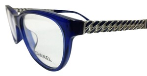 Chanel Impressive Blue and Silver Chain Chanel Eyeglasses 3301-A c.503 54