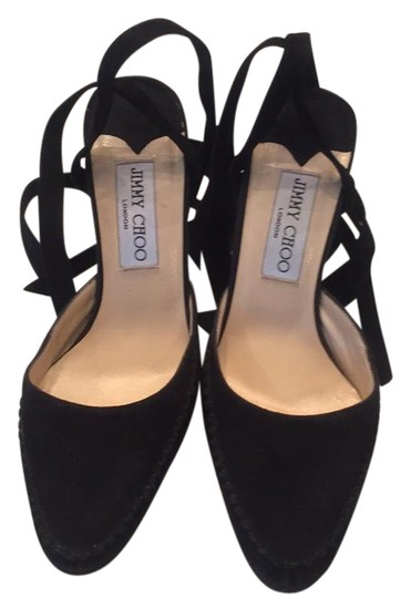 Preload https://item2.tradesy.com/images/jimmy-choo-black-suede-lace-up-pumps-size-us-6-20620501-0-1.jpg?width=440&height=440