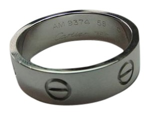 Cartier Cartier Love 18k White Gold Band Ring Size 8.5