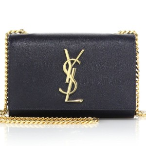 Saint Laurent Grained Leather Gold Hardware Color Cross Body Bag