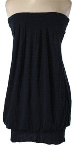 Diane von Furstenberg short dress Black Strapless Ruched Bubble Summer on Tradesy