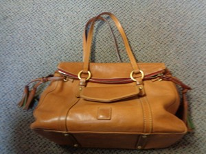 Dooney & Bourke & Leather Tassels Shoulder Bag