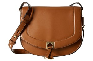 Ivanka Trump Brown Cognac It2730 Saddle Cross Body Bag