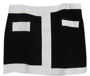 Boutique Moschino Mini Skirt Black/Ivory