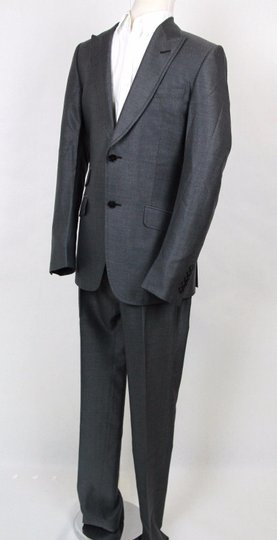 Gucci Gray Men's Stripe Wool Silk Suits Blazer Pants It 46/Us 36 295397 1200 Groomsman Gift