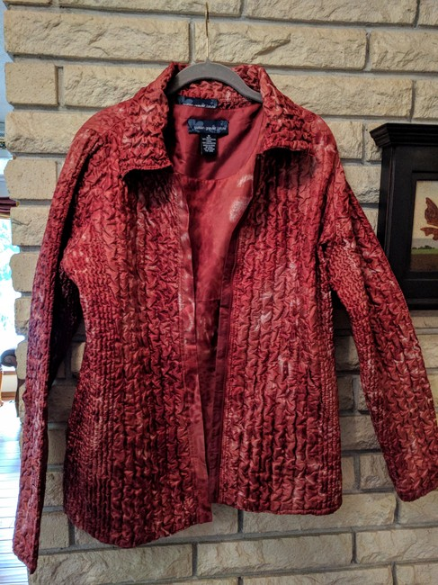 Preload https://item1.tradesy.com/images/susan-graver-rusty-cranberry-two-pieces-reversible-spring-jacket-size-10-m-20620775-0-0.jpg?width=400&height=650