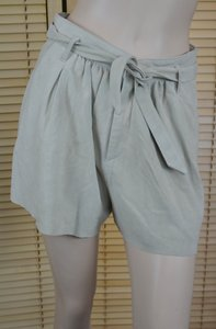 Joie Suede Belted Nwt Lined Dress Shorts Bone