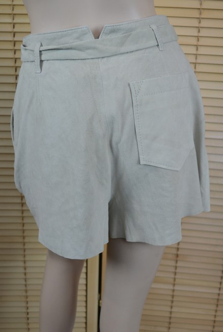 Joie Suede Belted Lined Dress Shorts Bone