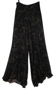 Barbara Bui Wide Leg Pants Black/Brown