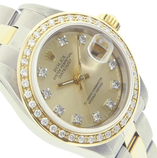 Preload https://item1.tradesy.com/images/rolex-champagne-dial-ladies-datejust-diamond-oyster-band-26mm-watch-20620875-0-3.jpg?width=440&height=440