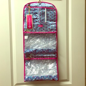 """Lilly Pulitzer Lilly Pulitzer """"My Fans"""" Seashell Print Hanging Travel Cosmetic Organizer"""