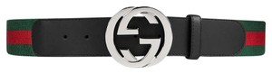 Gucci Web belt with G buckle size 95cm/38in