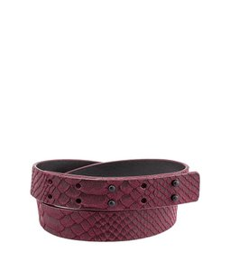 Nanette Lepore Nanette Lepore Purple Snakeskin Embossed Leather & Suede Belt, Size S