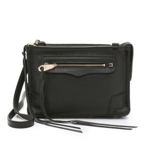 Rebecca Minkoff Minkoff Regan Gold Hardware Leather Cross Body Bag