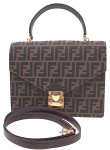 Fendi Zucca Pattern Canvas 2way Shoulder Bag