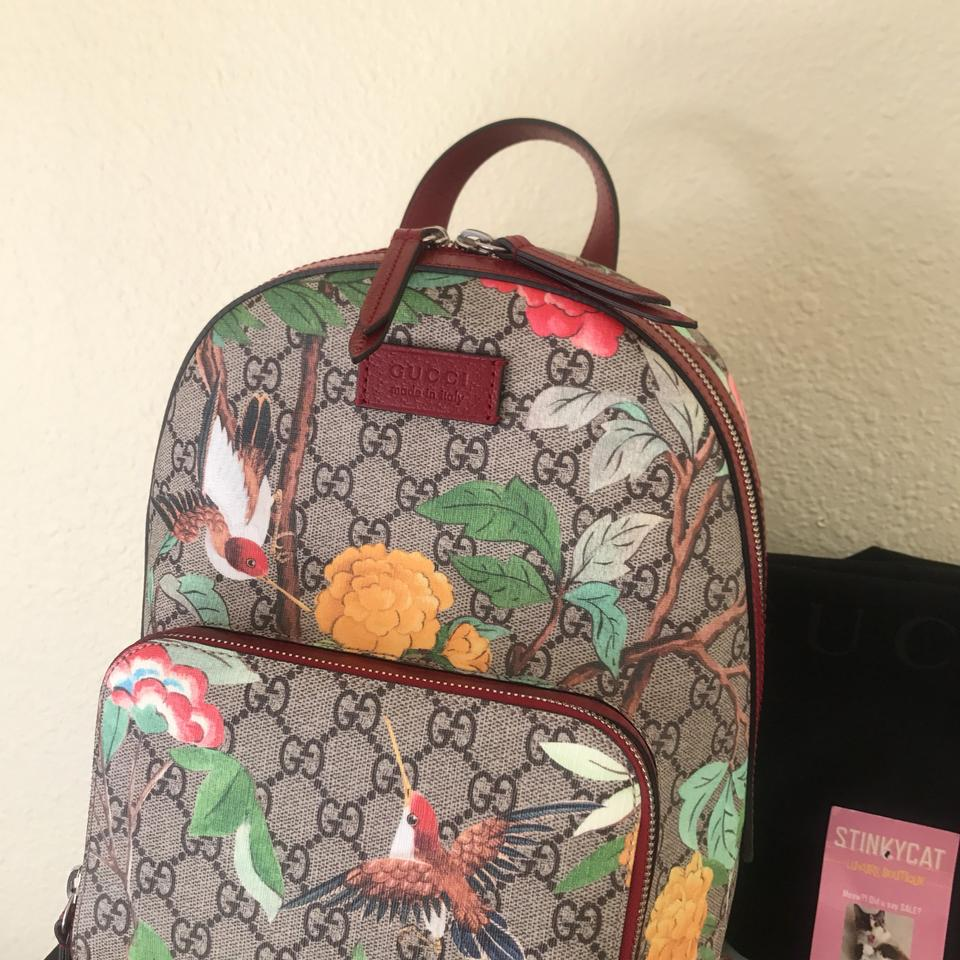 a7055c5a01784d Gucci GG Supreme Tian Multicolor Leather Backpack - Tradesy