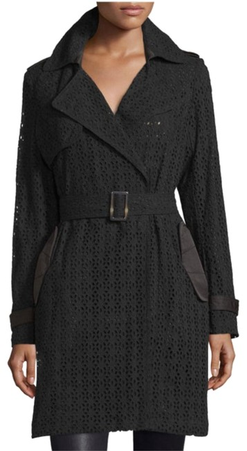 Preload https://item4.tradesy.com/images/vera-wang-black-women-s-lucy-lace-belted-m-trench-coat-size-8-m-20621108-0-3.jpg?width=400&height=650