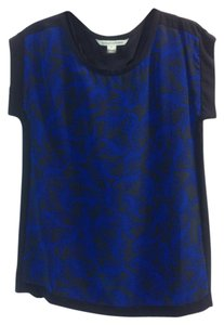 Diane von Furstenberg Top Navy & Blue