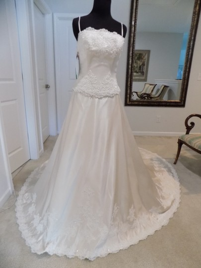 Anjolique Champagne 611 Wedding Dress Size 4 (S)
