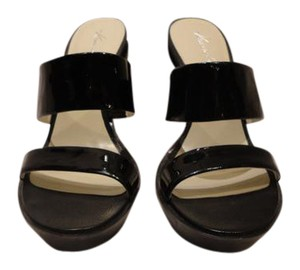 Kenneth Cole Rubber Leather Black Wedges
