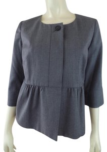 J.Crew New Wool Thin 3/4 Sleeves Peplum Gray Blazer