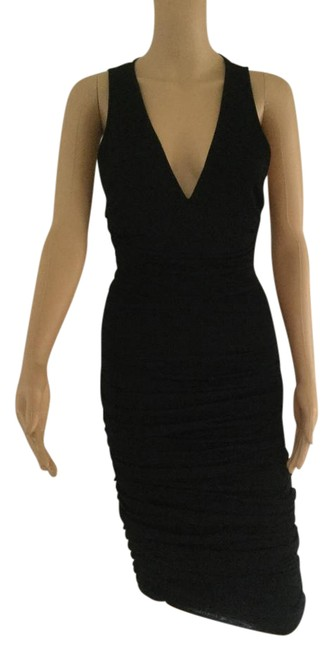 Preload https://item2.tradesy.com/images/alexandre-vauthier-black-v-neck-sexy-mid-length-night-out-dress-size-4-s-20621421-0-1.jpg?width=400&height=650