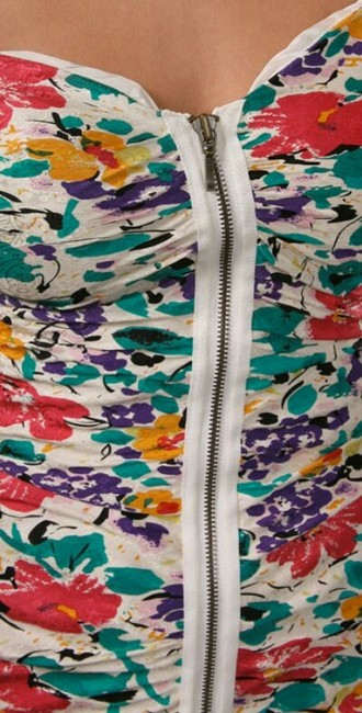 Twelfth St. by Cynthia Vincent short dress Silk Ruched Floral Print Sleeveless on Tradesy