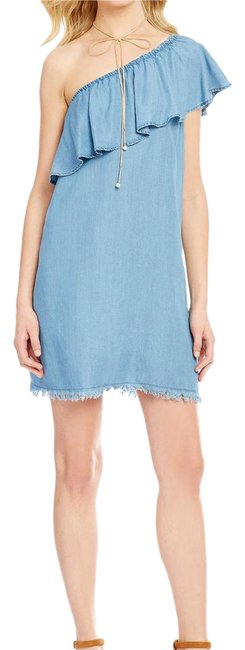 Preload https://item4.tradesy.com/images/gb-chambray-one-shoulder-shift-short-casual-dress-size-2-xs-20621468-0-1.jpg?width=400&height=650