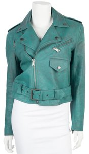 Ralph Lauren Teal Leather Jacket