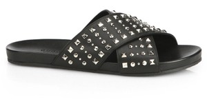 Gucci Studded Rockstud Gg Black Sandals