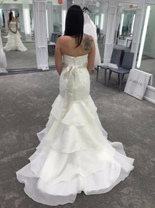 Melissa Sweet Melissa Sweet Floral Lace Trumpet Wedding Dress